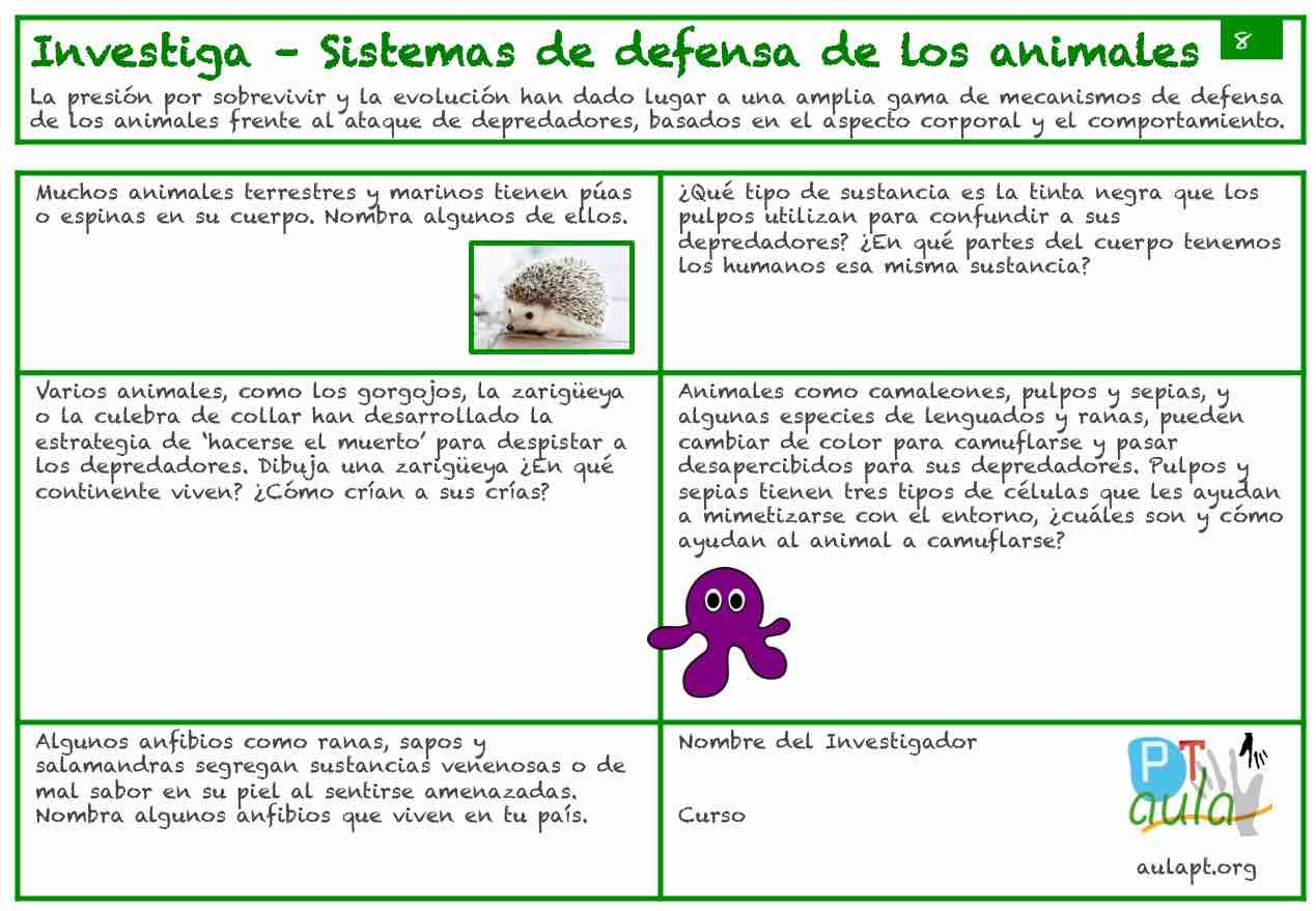 SISTEMA DE DEFENSA DE LOS ANIMALES