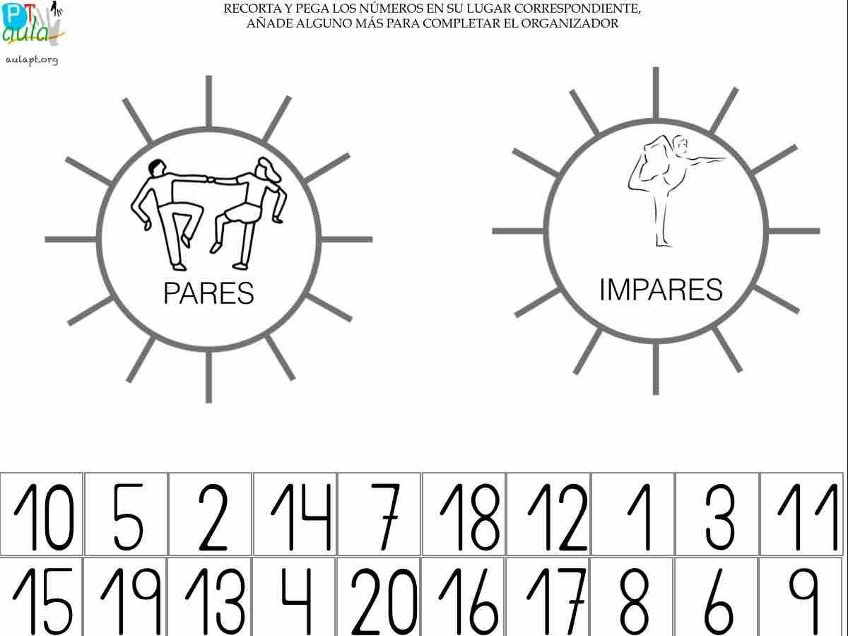 NÚMEROS PARES E IMPARTES AULAPT