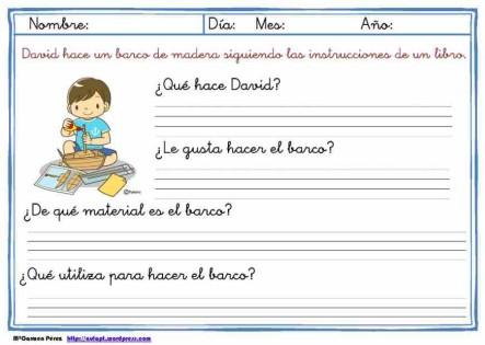 comprensión lectora de frases cortas 5