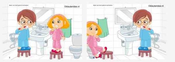 Cartel De Cuarto De Baño En Ingles Para Infantil  silicon valley