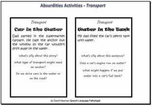 absurdities activities