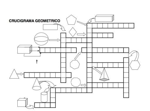 crucigrama geométrico