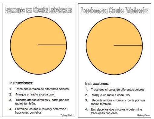 fracciones con círculos entrlazados