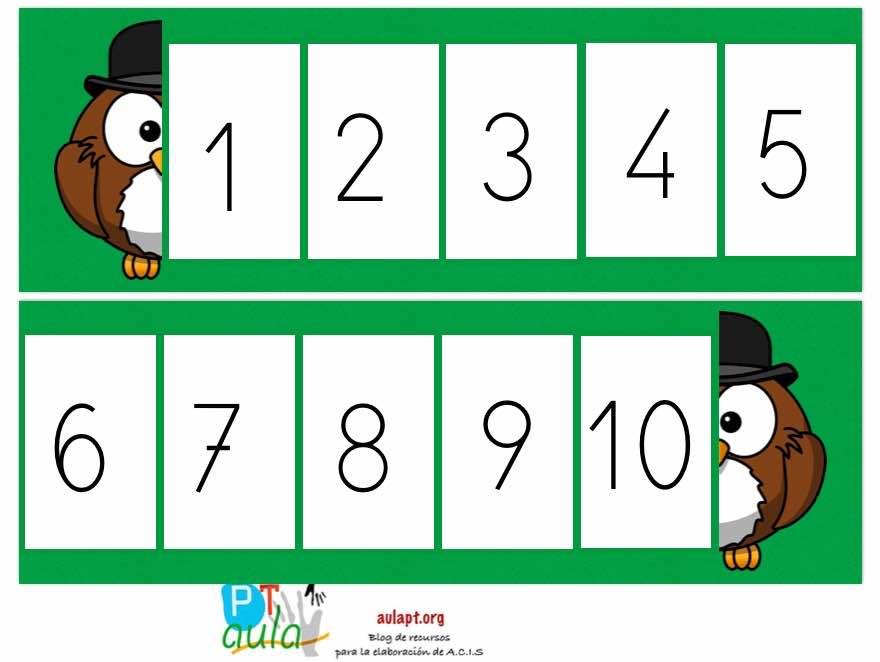 Animales numéricos 5 modelos diferentes.