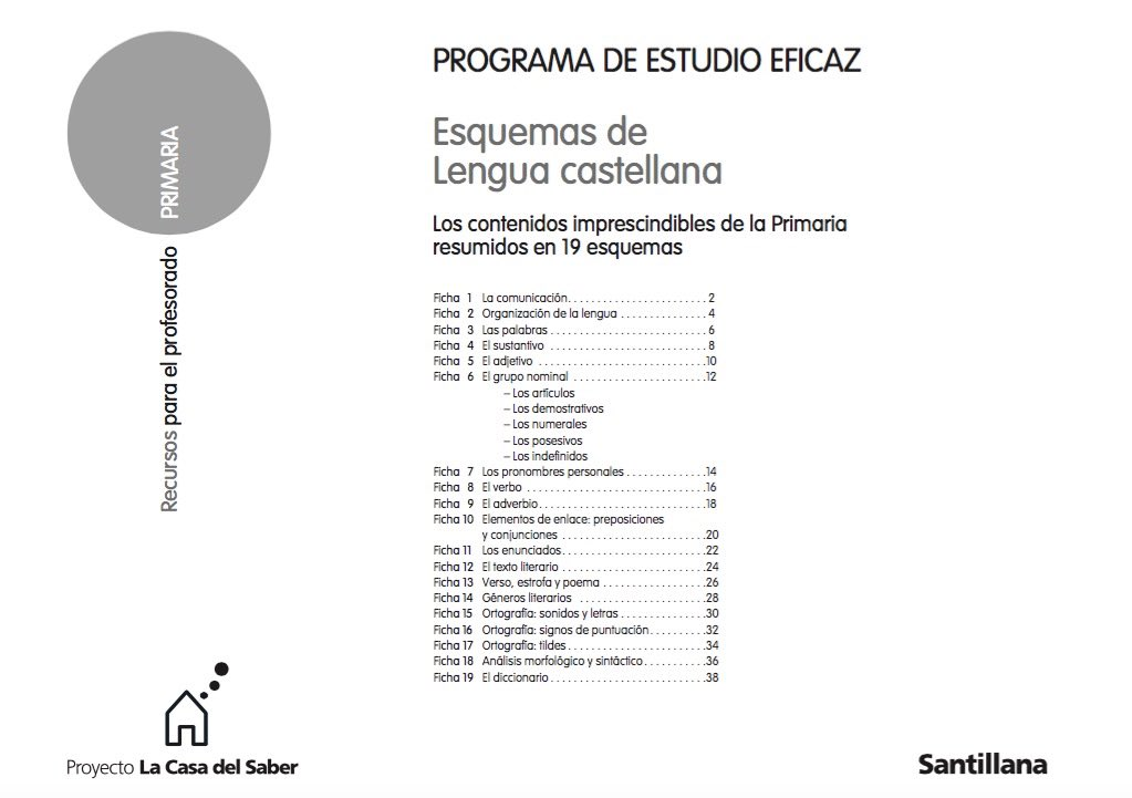 PROGRAMA DE ESTUDIO EFICAZ SANTILLANA LENGUA