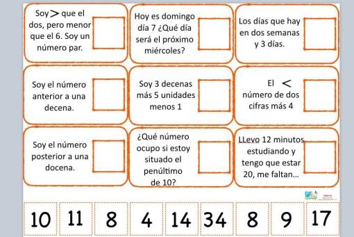 juego de asociación matemática