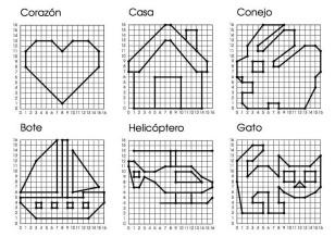 coordenadas dibujos