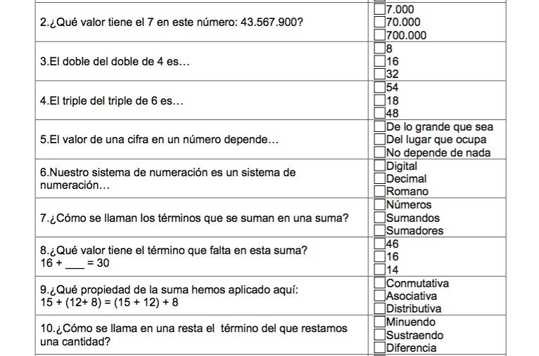 MATEMÁTICAS: 300 ACTIVIDADES TIPO TEST PARA LOS ÚLTIMOS CURSOS DE ...