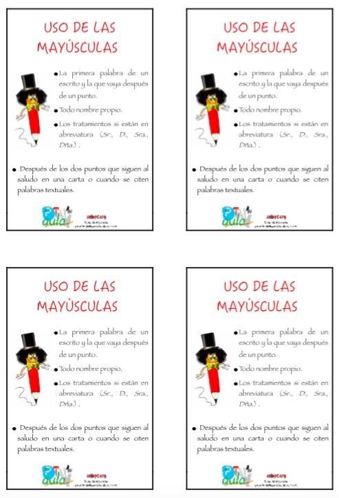 Regla ortográfica uso de las mayúsculas.