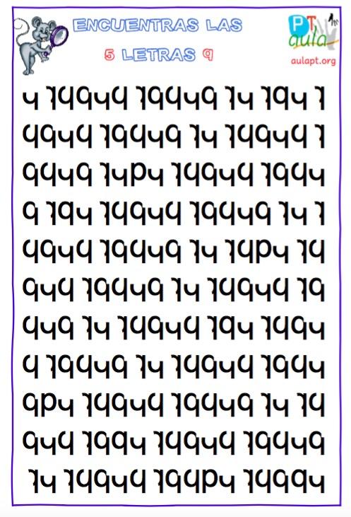 encuentra las 5 letras q