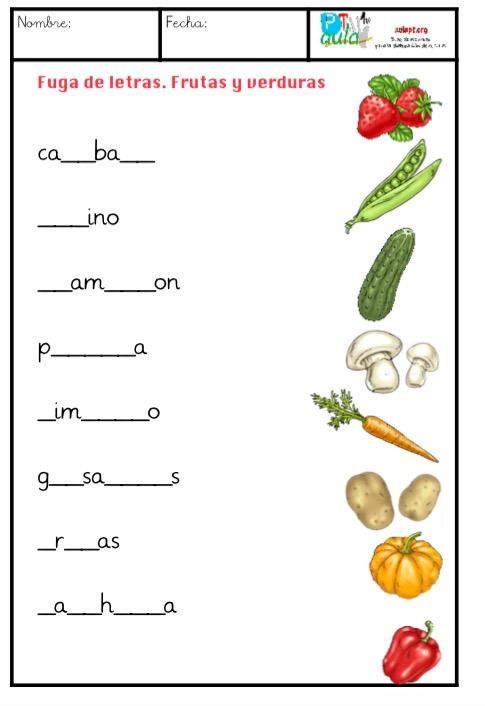 Vocabulario tem tico fuga de letras aula pt for Grado medio cocina y gastronomia