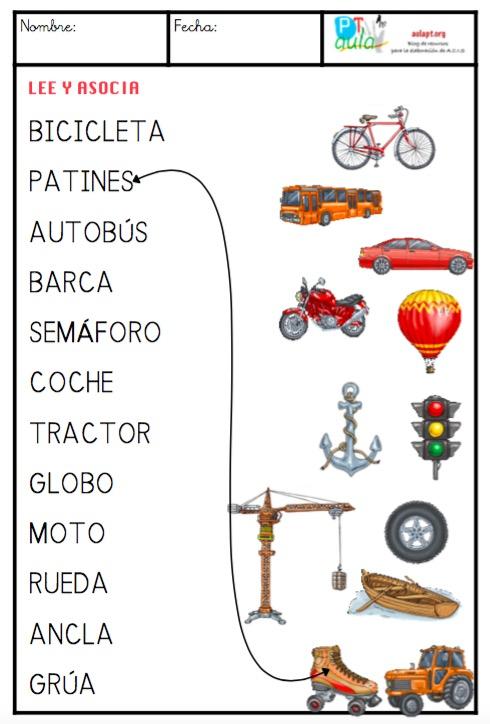 medios de transporte mayúsculas