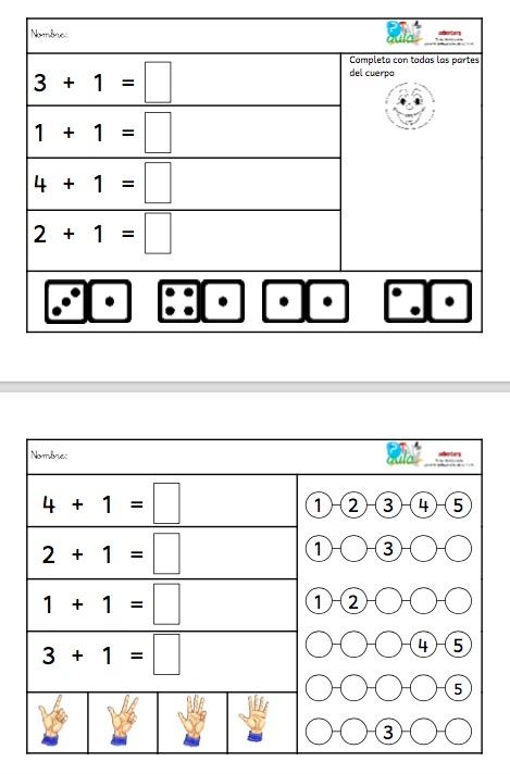 sumas iniciación bloque 2