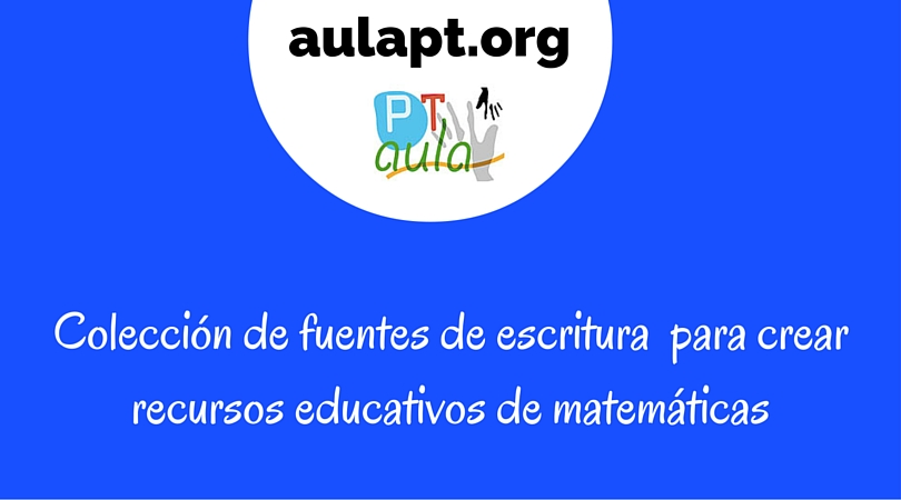 Colección de fuentes de escritura matemáticas para crear recursos educativos