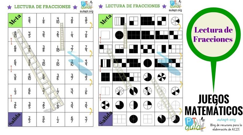 Lectura de fracciones escaleras y serpientes aula pt for Escaleras y serpientes imprimir