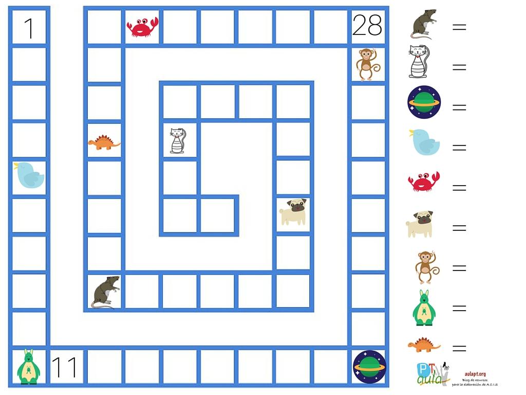Series ascendentes y descendentes. 2 Plantillas de juego - Aula PT