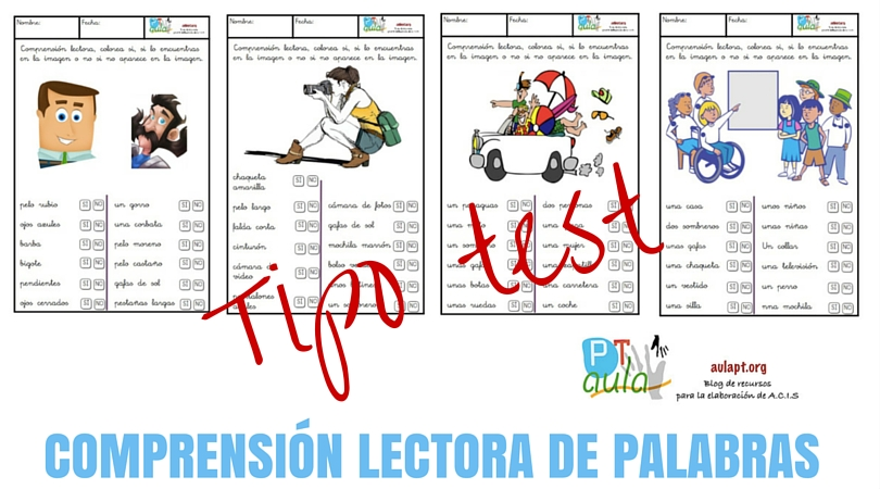 COMPRENSIÓN LECTORA DE PALABRAS