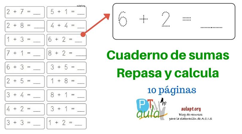 Cuaderno de sumas .Repasa y calcula-2