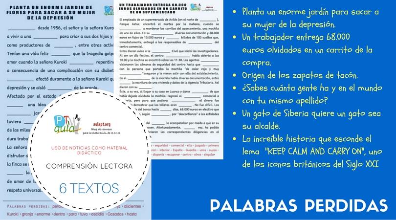 PALABRAS PERDIDAS CON NOTICIAS