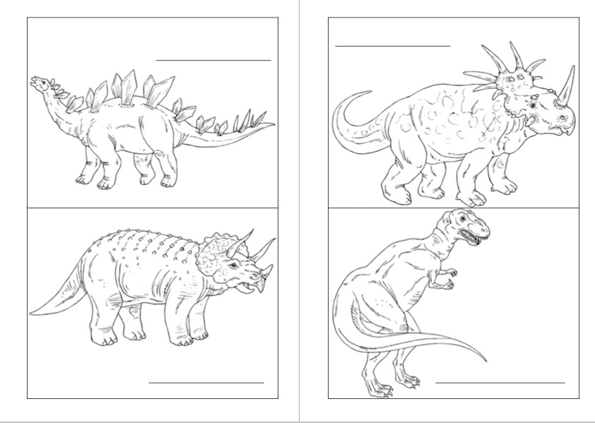 colorea dinosaurios