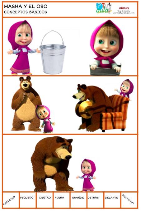 conceptos básicos masha y el oso