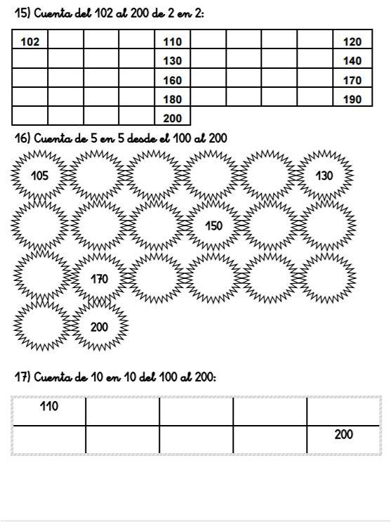 CUADERNO DE ACTIVIDADES DE NUMERACIÓN 100-200 - Aula PT