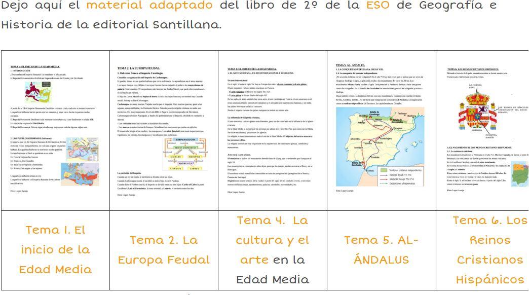 Material adaptado de Geografía e Historia para 2º de la ...