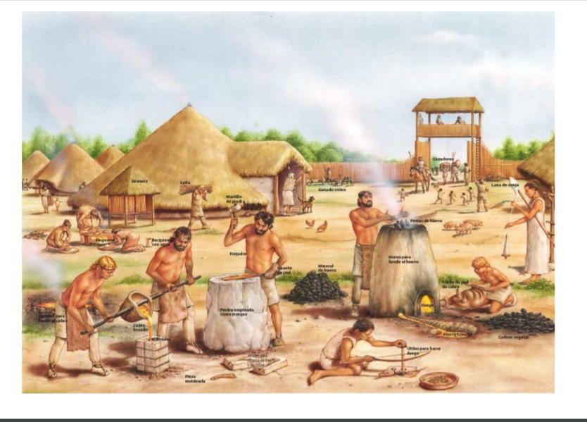 Tema adaptado sobre la prehistoria. 18 páginas.