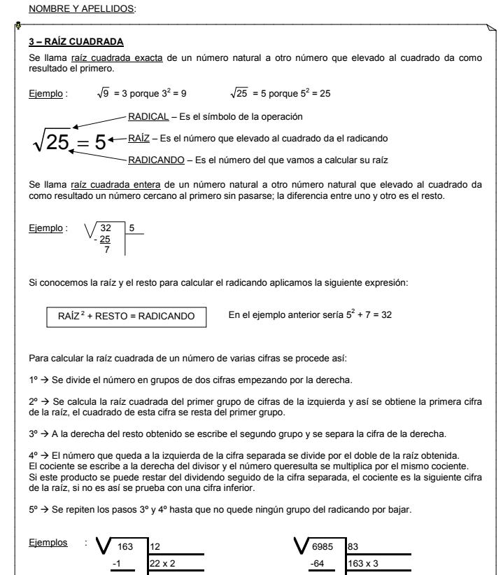 Cuaderno De Recuperación De Matemáticas 2º De La Eso Aula Pt
