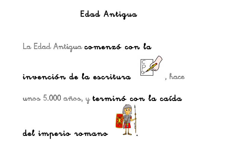 Adaptación Curricular de Ciencias Sociales. La Edad Antigua. - Aula PT