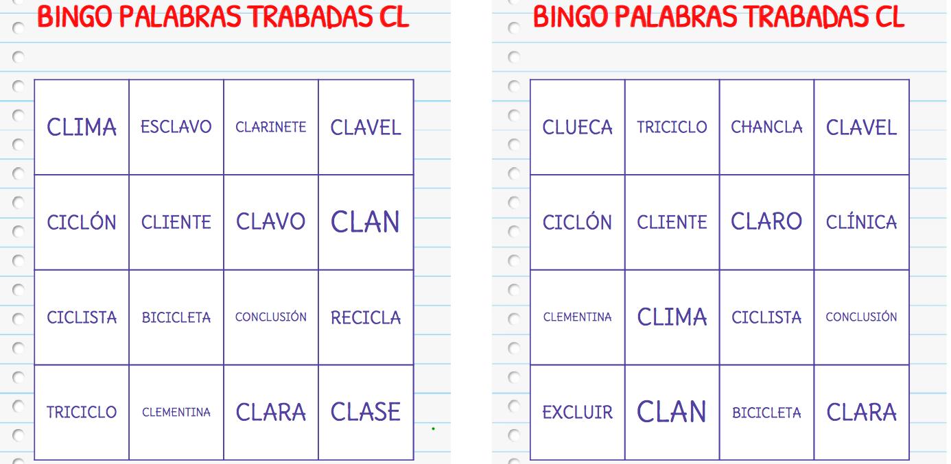 Dibujos Con La Trabada Br: COLECCIÓN DE BINGOS PARA TRABAJAR CON PALABRAS TRABADAS